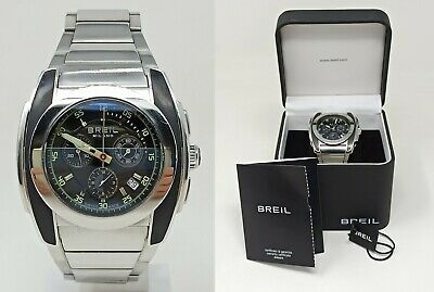 £85.17 • Buy Orologio Breil Milano BW0382 Swiss Made Oversize Watch All Stainless Steel 46mm