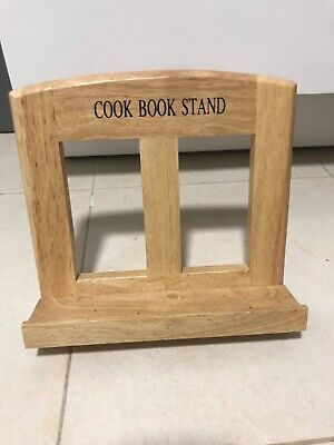 £7.99 • Buy Modern Wooden Cook Book Stand Very Good Condition 8x8.5 Inch