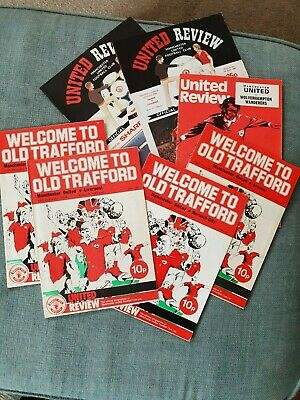 £12 • Buy Football Programmes. Manchester United. 7 United Review Matchday Programmes.