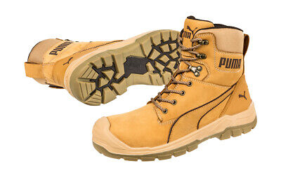 AU189.95 • Buy Puma Safety Boots Conquest Waterproof Wheat Zip Sided Work Boots With Composi...