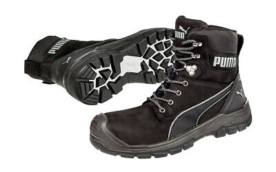 AU189.95 • Buy Puma Safety Boots Conquest Waterproof Black Zip Sided Work Boots With Composi...