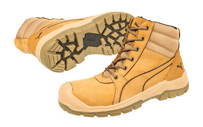 AU167.95 • Buy Puma Safety Boots Tornado Wheat Zip Sided Work Boots With Composite Toe Cap