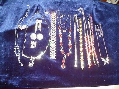 £7.50 • Buy Mixed Lot Of Bling Diamante Style Jewellery 17 Items