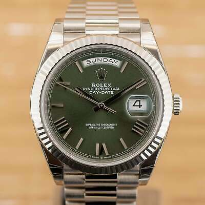$ CDN60163.13 • Buy Rolex Day Date 40 Green Roman - Unworn With Box And Papers July 2021