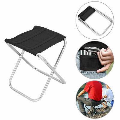 £11.38 • Buy Portable Folding Chair Foldable Stool Seat Aluminum For Camping Fishing Hiking