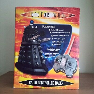 £64.99 • Buy Rare Doctor Dr Who Radio Controlled 12 Inch Black Dalek Boxed Great Condition