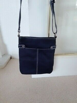 £9.99 • Buy Ladies Cross Body Blue Leather Bag By Lloyd  Baker Very Good Condition