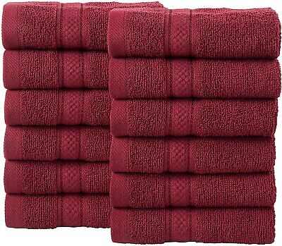 £13.31 • Buy 12-Piece Bale Face Towel Gift Set – 500 GSM 100% Double Looped Cotton Soft