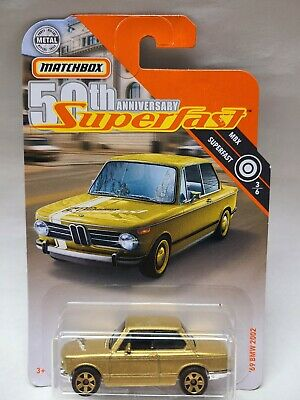$4.99 • Buy Matchbox 50th Anniversary Superfast '69 BMW 2002 Gold FYP28 Gold Wheels MBX 3/6