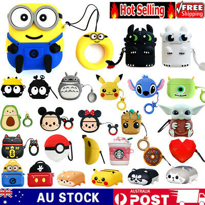 AU11.99 • Buy For Apple AirPods Pro 1 2 Silicone Case 3D Cute Cartoon Cover Earbuds Airpods