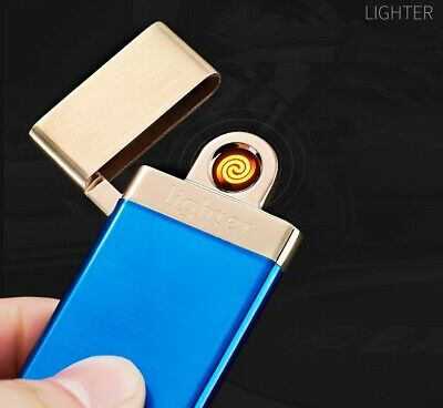£4.95 • Buy Cigarette Lighter Electric Rechargeable Flameless Metal Windproof USB Charging