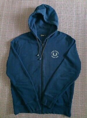 £10.99 • Buy Fred Perry Full Zip Hoodie Jacket : Size Medium  80s Casuals Scooter 90s Hipster