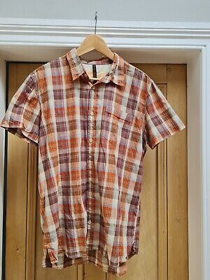 £5 • Buy Nudie Jeans Mens Short Sleeve Checkered 100% Cotton Summer Shirt - L