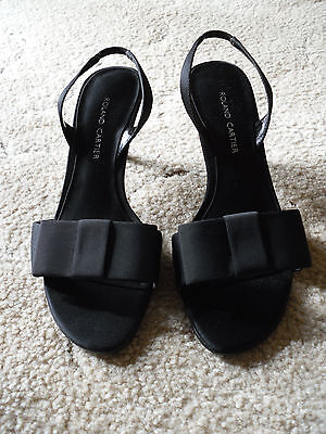 £12 • Buy Black Fabric Strappy Ladies Sandals By Roland Cartier - UK6 (narrow Fitting) New
