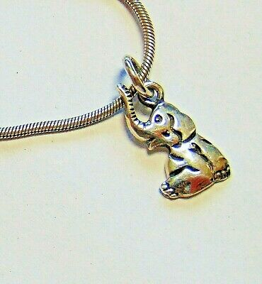 £14.99 • Buy Sterling Silver Necklace With Cute Baby Elephant Pendant