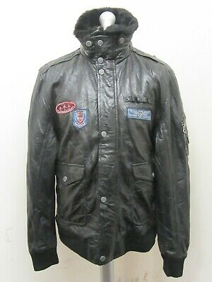 $81.83 • Buy VINTAGE 80's GIPSY DISTRESSED LEATHER MOTORCYCLE FLIGHT JACKET SIZE 2XL BADGES