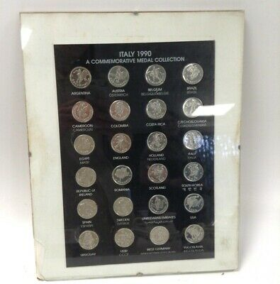£9.99 • Buy 1990 Italy World Cup Commemorative Medal Collection Framed Minor Damage #632