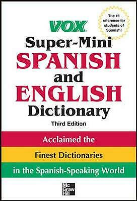 £3.58 • Buy Vox Super-Mini Spanish And English Dictionary By Vox (Paperback, 2012)