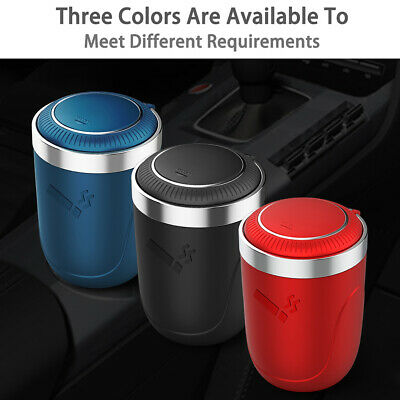 £7.80 • Buy Portable Car Ashtray With LED Light Metal Liner Outdoor Ashtray One-keys Opening