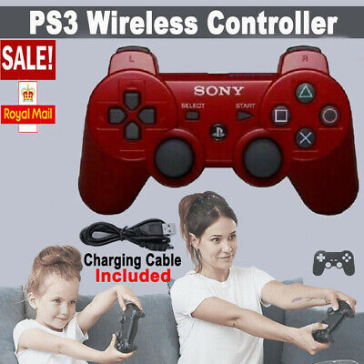 £12.89 • Buy Red PS3 Controller PlayStation DualShock 3 Wireless SixAxis GamePad Fun New