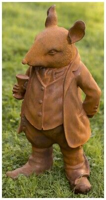 £99.99 • Buy Large Mr Ratty Garden Ornament From The Wind In The Willows In Cold Cast Iron