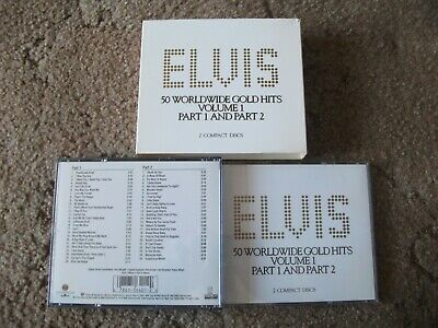 £9.99 • Buy ELVIS PRESLEY 50 WORLDWIDE GOLD HITS VOLS 1 Parts 1 And 2