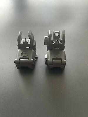 $18.99 • Buy Airsoft Magpul PTS Front And Rear Flip-Up Sights For Airsoft Rifles