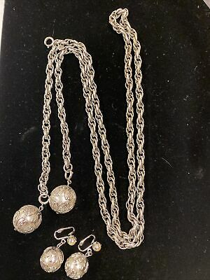 """$1.99 • Buy VINTAGE SARAH COVENTRY 1971 """"Chain A Bility"""" Necklace Earrings"""