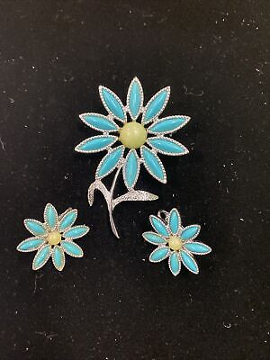 """$3.24 • Buy VINTAGE SARAH COVENTRY 1971 """"Daisy Time"""" Pin Earring Flower"""