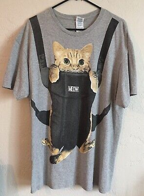 $11.99 • Buy Funny Cat Carrier T-Shirt Size XL Tall