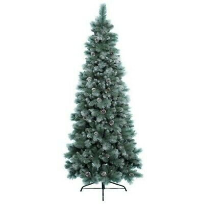 £5 • Buy Everlands Frosted Norwich Pine Artificial Christmas Tree 6ft