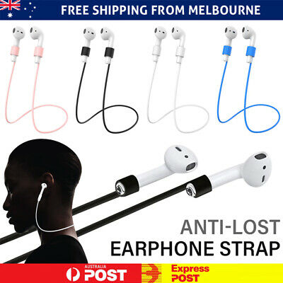 AU4.98 • Buy Anti Lost Strap String Rope Silicone Holder Cable Cord Airpods Earbuds AU