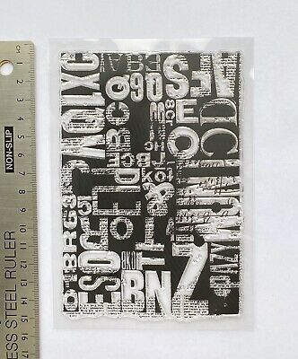 £6.99 • Buy Clear Rubber Stamps Alphabet Letters Words Background Steampunk Birthday