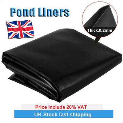 £15.29 • Buy UK HDPE Fish Pond Liners Garden Pool Liners Membrane Landscaping Reinforced