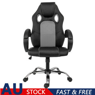 AU73.97 • Buy Gaming Office Chairs Racing Executive Footrest Computer Seat AU