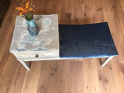 £27 • Buy Vintage Telephone Table /end Table/hall Table With Seat