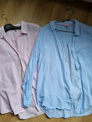 £23 • Buy Joules Linen Shirt ×2 In Size 14