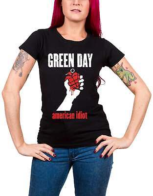 £18.95 • Buy Green Day T Shirt American Idiot Heart New Official Womens Skinny Fit Black