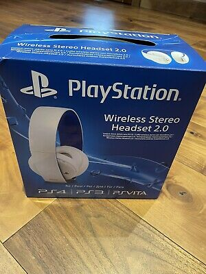 £15.90 • Buy Sony White Wireless Headset For Playstation 4 *Boxed With Instructions*