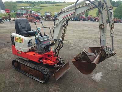 £7995 • Buy Takeuchi Tb108 Mini Micro Digger 2400HRS 2 Buckets 2008yr Can Palletize For £120