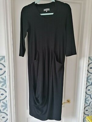 £29 • Buy Sahara Black Textured Bubble Ruched Front Dress, Size S