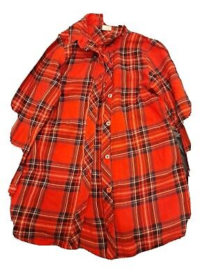 £1.20 • Buy Girls Next Red  Checked Shirt Dress Age 6