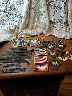 $9.99 • Buy Lot Of 27 Assorted Military Patches