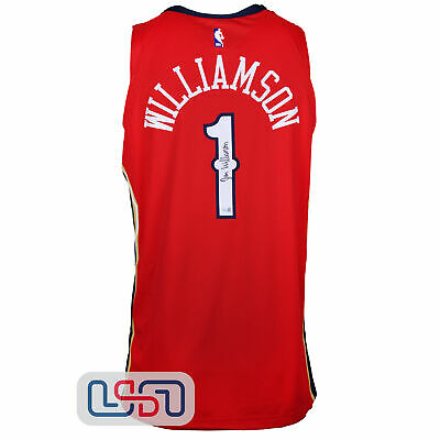 $202.50 • Buy Zion Williamson Signed Red Authentic Pelicans Nike Swingman Jersey Fanatics Auth