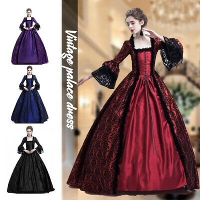 £21.59 • Buy Medieval Victorian Women Lace Half Sleeve Ball Gown Dress Party Palace Cosplay