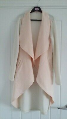 £9 • Buy Pink & White Waterfall Cardigan Size S Ex Cond