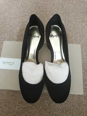 £5.99 • Buy BNWOB Ladies Monsoon Black Satin Special Occasion Shoes (Size 7  EU 40)