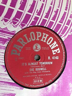 £1.99 • Buy EVE BOSWELL - It's Almost Tomorrow / Cookie 78 Rpm Disc