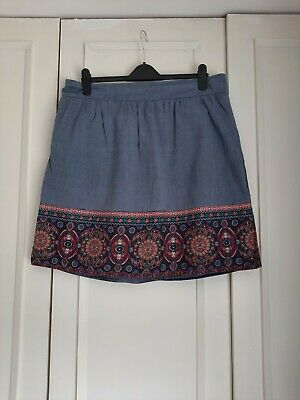 £2.50 • Buy George Blue And Pattern Skirt Size 16