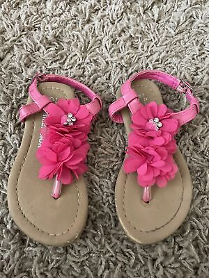 £0.99 • Buy Girls Infant Size 7 Sandals Pink Flowers